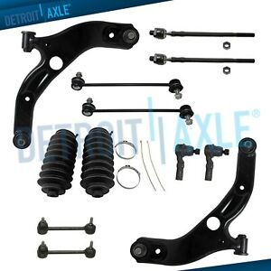 New 12pc Front Lower Control Arms Suspension Kit 2002 2003 Mazda Protege 5