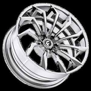 22 Inch Forgiato Navaja Ecx Wheels Rims Mercedes S550 S63 Class Amg Chrome
