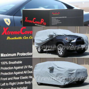 2016 2017 2018 2019 Toyota 4runner Breathable Car Cover W mirror Pocket Grey