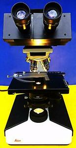Leica Laborlux S Inspection Wild Binocular Microscope 5 Objectives Works Perfect