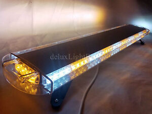 42 80 Led Light Bar Emergency Beacon Flash Tow Truck Plow Response Amber