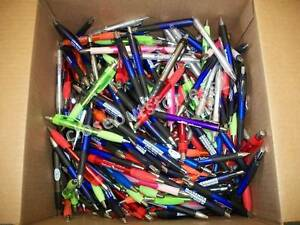 500 Wholesale Lot Misprint Ink Pens Ball Point Plastic Retractable