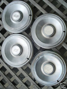 Vintage 1973 73 Chevrolet Chevy Impala Hubcaps Wheel Covers Center Caps Classic