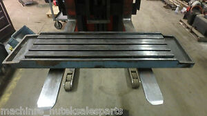 48 75 x14 x4 5 Steel Weld T slotted Table Cast Iron Layout Plate Jig Weld