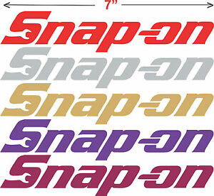 6 Snap On Decals Tool Box Decals 7 Snap On Stickers Window Decals