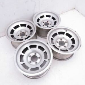 Corvette Western Machined Aluminum Alloy Slotted Wheels 15x8 Set Of 4 1976 1982