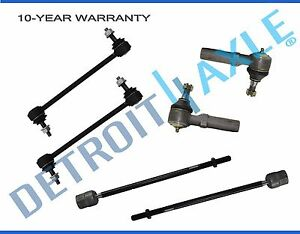Inner Outer Tie Rods Front Sway Bar Set For 1995 2001 2002 2003 Ford Windstar