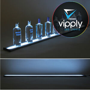 72 Led Lighted Glowing Liquor Bottle Display Shelf Home Back Bar Rack Metal
