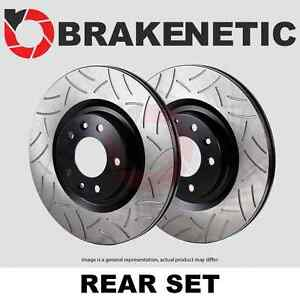 Rear Set Brakenetic Premium Gt Slotted Brake Disc Rotors Cobra Bnp61046 Gt