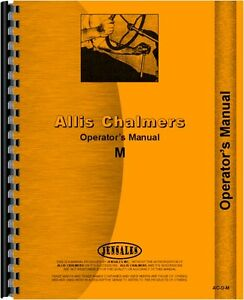Allis Chalmers M Crawler Operators Manual Ac o m 65640