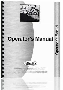 Allis Chalmers Cultivator Operators Manual ac o wing Cult