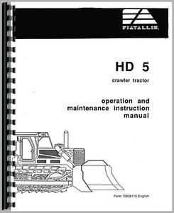 Allis Chalmers Crawler Operators Manual ac o hd5
