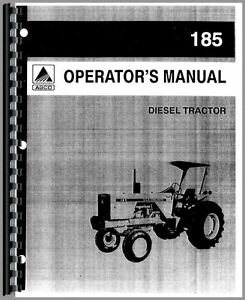 Allis Chalmers 185 Tractor Operators Manual sn 1597 And Up