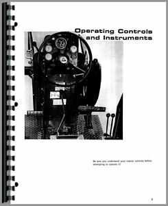 Allis Chalmers 185 Tractor Operators Manual sn 1001 1596