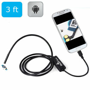 Pipe Inspection Camera Usb Android Endoscope Video Sewer Drain Waterproof 3 Ft