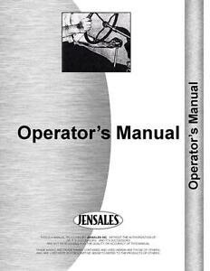 Allis Chalmers 8050 8070 Tractor Operators Manual ac o 8050 8070