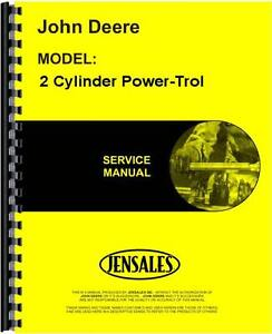 John Deere 2 Cylinder Power trol Service Manual Jd s sm2022