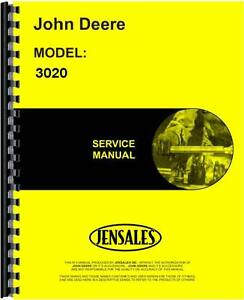 John Deere 3020 Tractor Service Manual sn 123 000 And Up Jd s tm1005