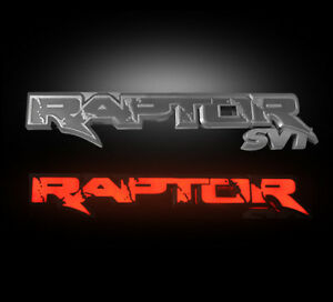 2009 2014 F150 Svt Raptor Recon Rear Tailgate Light Up Illuminated Emblem In Red