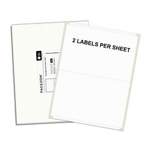 1000 Shipping Labels 8 5x5 5 Rounded Corner Self Adhesive 2 Per Sheet Packzon