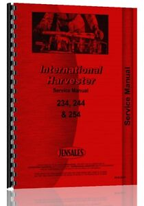 International Harvester 234 Tractor Service Manual