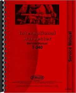 International Harvester T340a Td340 Crawler Service Manual ih s t340