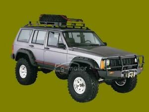For 84 01 Jeep Cherokee Xj 4dr Pocket Rivet Style Abs Fender Flares Wheel Cover