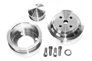 79 93 Sbf 5 0 Mustang Polished Serpentine Underdrive Pulley Alternator Kit