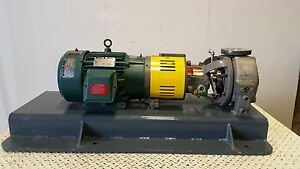 New Surplus Durco Mk3 Gp1 1x1 5 82 Lo Flo Jacketed Pump 316ss 10 Hp 3600 Rpm