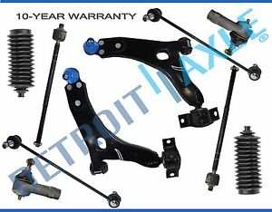 New 10pc Front Lower Control Arm Set Suspension Kit For Ford Focus 2006 2007