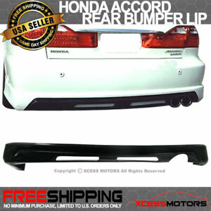 Fit 98 02 Accord 4dr Sedan Poly Urethane Pu Rear Bumper Lip Spoiler Diffuser