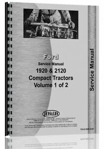 Ford Service Manual 1920 Tractor Diesel Compact 2120 Tractor Fo s 1920 2120