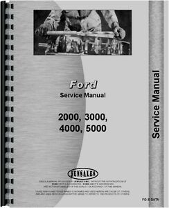 Ford Service Manual 2000 3000 4000 5000 Tractor Data fo s data