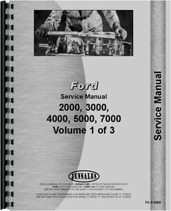 Ford 2000 3000 4000 5000 Series Tractor Service Manual fo s 2000