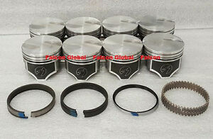 Ford 460 Speed Pro Hypereutectic Coated Flat Top Pistons Set 8 W Cast Rings 040