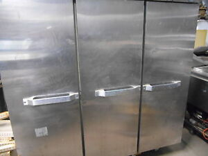 Used Hobart Stainless Steel 3 Drawer Upright Freezer