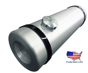 8x26 5 End Fill Round Spun Aluminum Fuel Cell gas Tank Tractor Pull 1 4 Npt