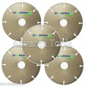 5pk 4 5 Metal Cutting Diamond Blade Cut off Wheel Type 1 For Angle Grinders