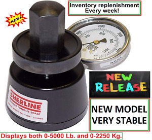Sherline Hydraulic Lm5000 Trailer Tongue Weight Scale 0 5000lb New Model black