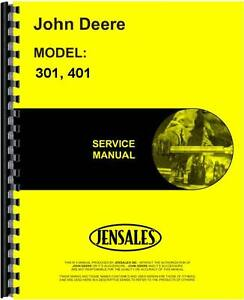 John Deere 301 401 Industrial Tractor Service Manual jd s tm1034