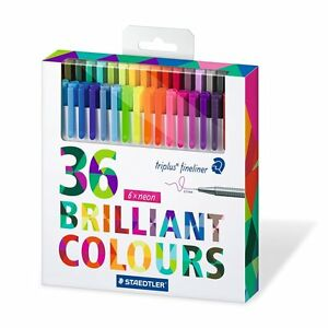 Staedtler Triplus Fineliner 334 C36 Color Pen Set Of 36 Assorted Color