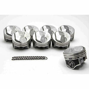 Chevy 454 Speed Pro Hypereutectic Coated 30cc Dome Pistons cast Rings Kit Std