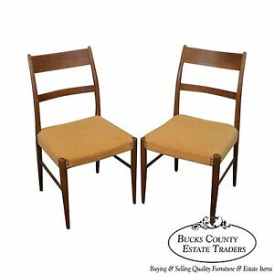 Danish Modern Pair Of Teak Side Chairs