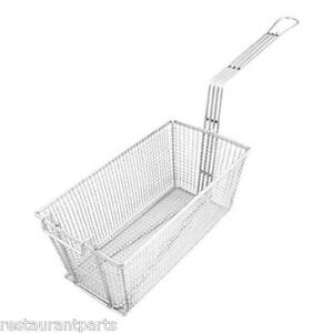 Deep Fryer Basket 6 5x13x5 25 Heavy Duty Front 63101