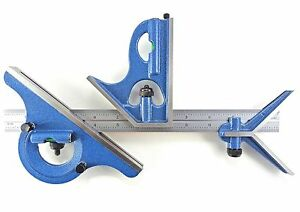 Blem Cosmetic Second Pec 24 16r 4 Pc Combination Machinist Square Protractor