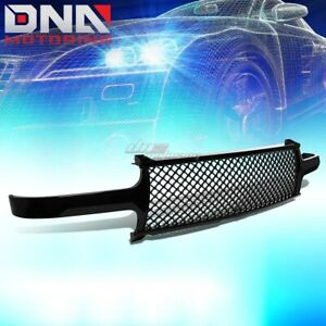 For 1999 2002 Chevy Silverado Front Bumper Upper Mesh Grille Grill Grame Glossy