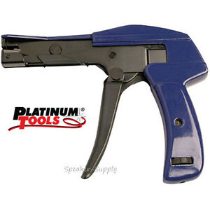 Platinum Tools 10200c Heavy Duty Cable Tie Gun W Automatic Cut Off Tool 10200c