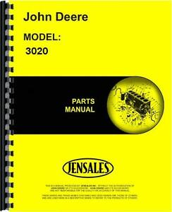 John Deere 3020 Tractor Parts Manual sn 123 000 And Up