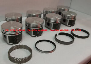Speed Pro Chrysler dodge 440 Forged Flat Top 4 bbl Pistons file Fit Rings Kit 30