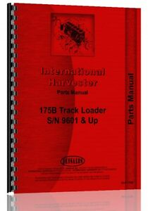 International Harvester 175b Track Loader Parts Manual